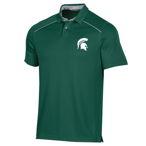 NCAA Michigan State Spartans Men's Striped Short Sleeve Polo Shirt - image 1 of 2