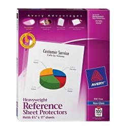 Avery Non-Glare Heavyweight Top Loading Sheet Protectors, 8-1/2 x 11 Inches, Box of 100