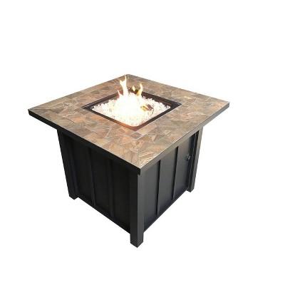 Square Tile Top Outdoor Fire Pit - AZ Patio Heaters