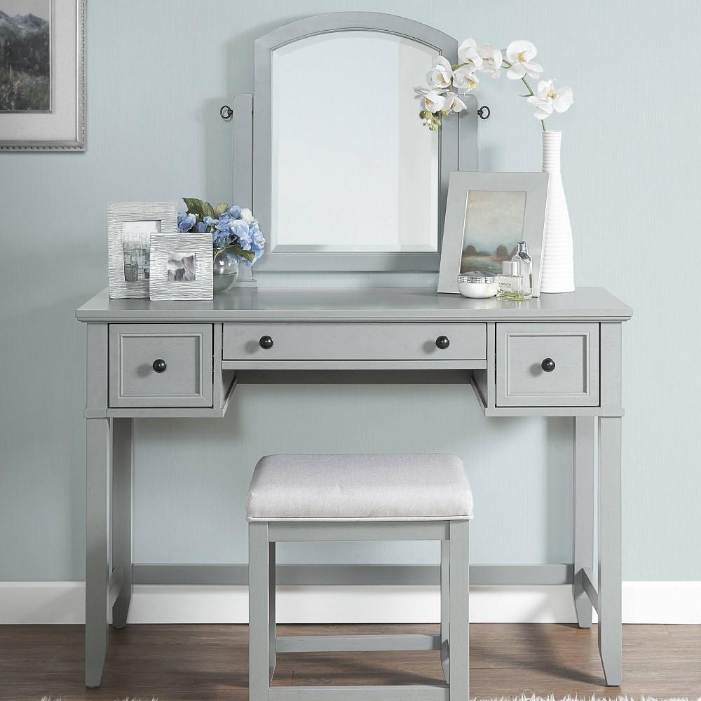 Vista Vanity and Mirror Vintage Gray - Crosley