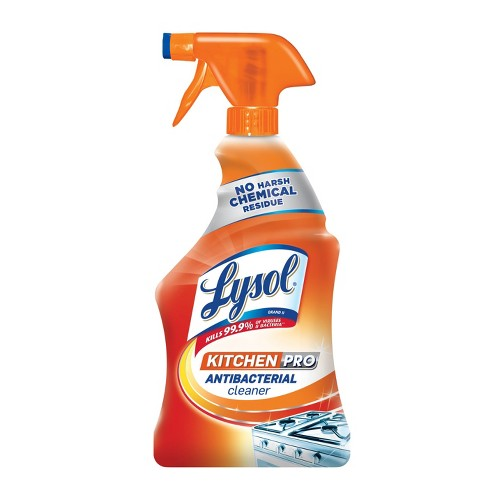 lysol antibacterial kitchen cleaner spray 22oz target