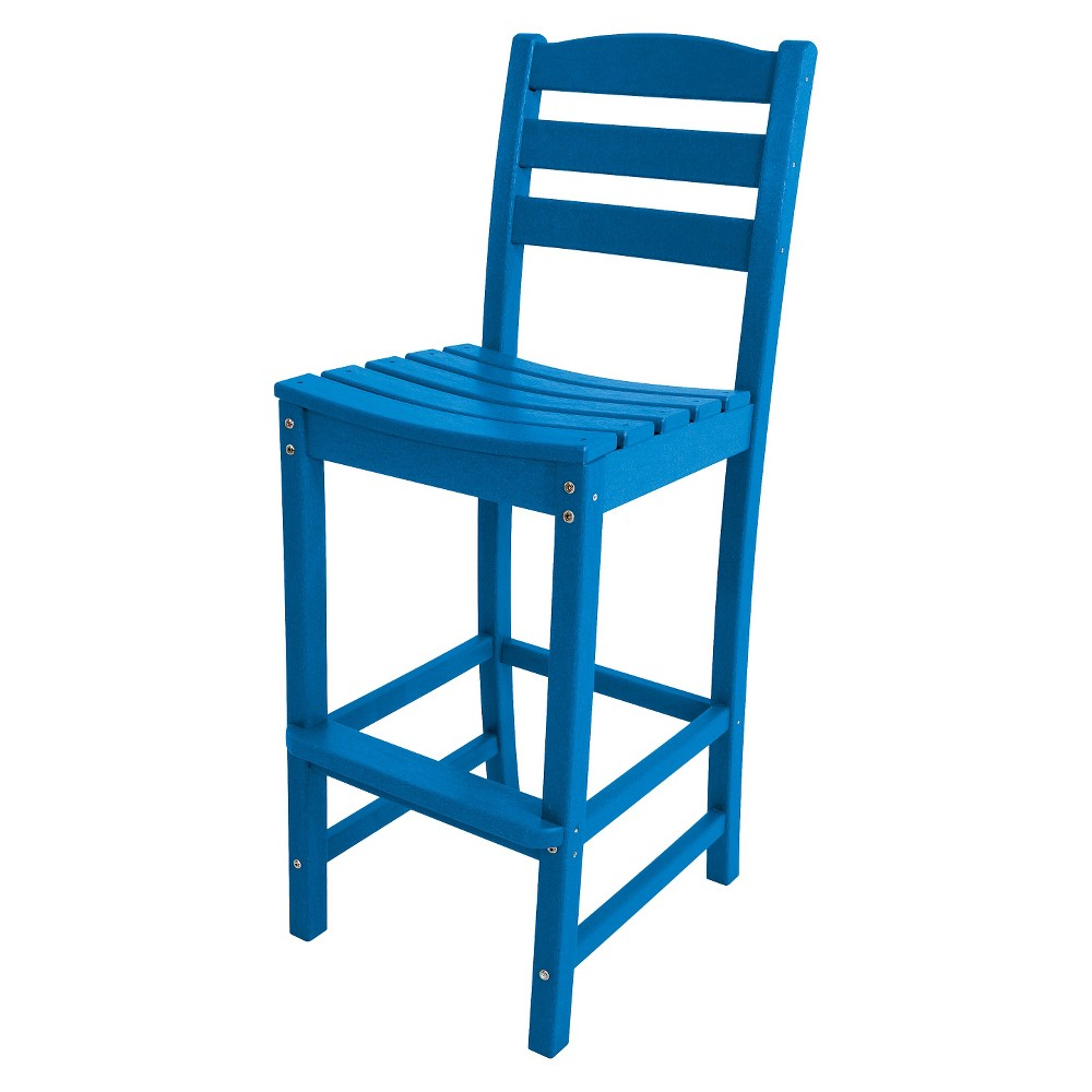 Polywood La Casa Bar Height Patio Dining Side Chair - Pacific Blue, Pac Blue