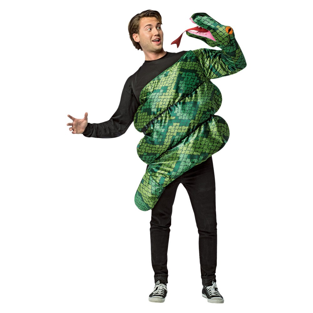 Image of Halloween Adult Coiled Anaconda Costume, Adult Unisex, Size: One Size, MultiColored