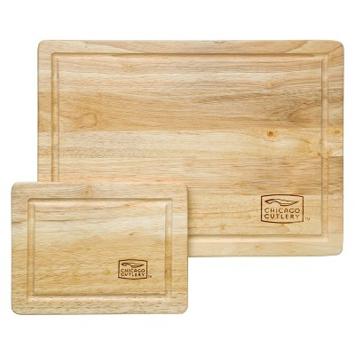 Chicago Cutlery Rubberwood 2pc Cutting Board Set
