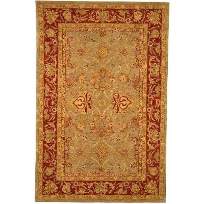 Gray/Red Floral Tufted Area Rug 5'X8' - Safavieh