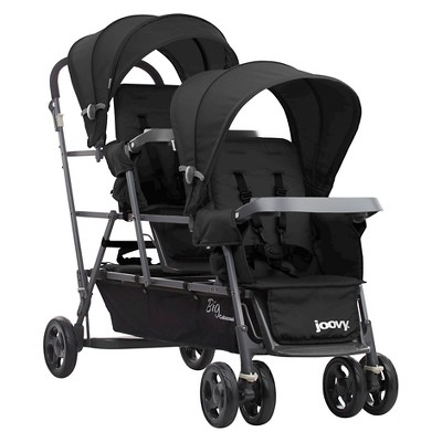 Joovy Big Caboose Graphite Stand On Tandem Triple Stroller - Black