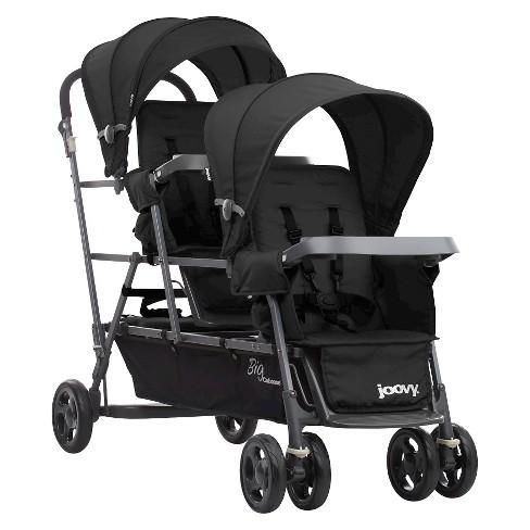Joovy Big Caboose Graphite Stand-On Tandem Triple Stroller - Black - image 1 of 4