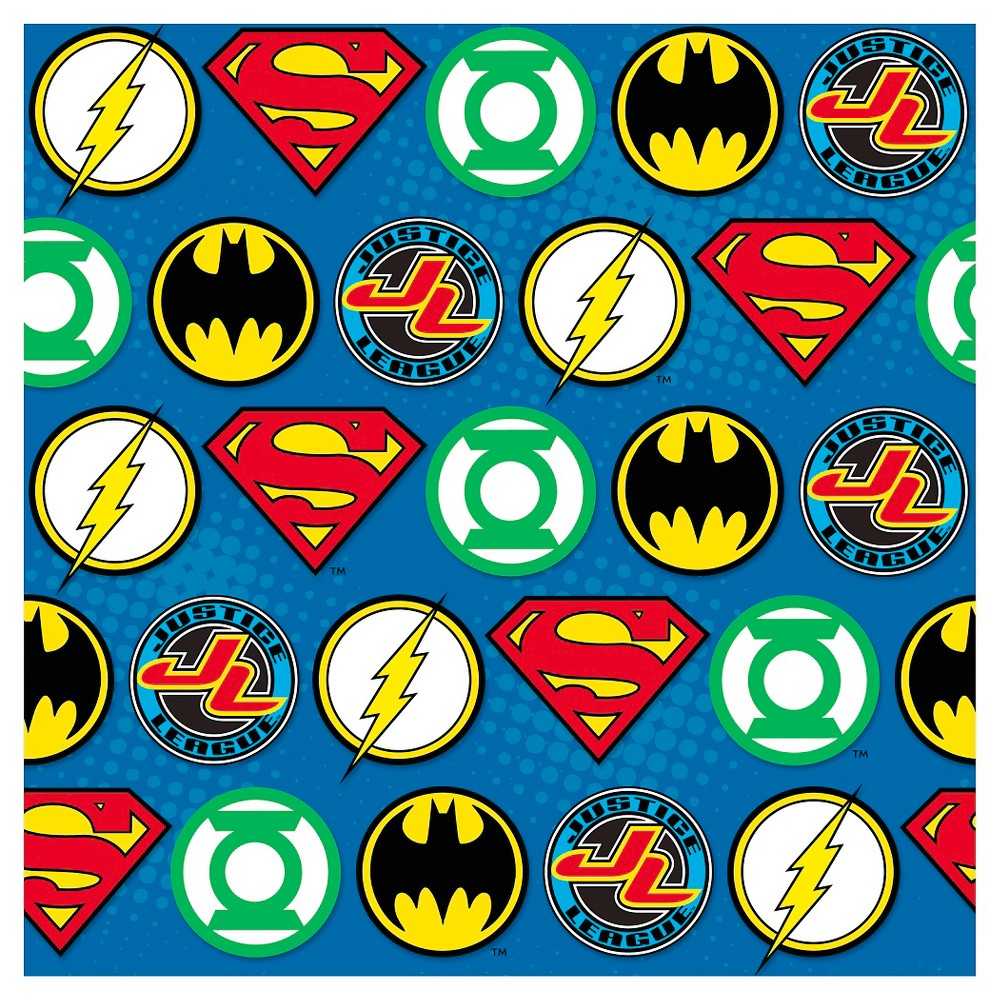 Image of Justice League Gift Wrap, gift wrap