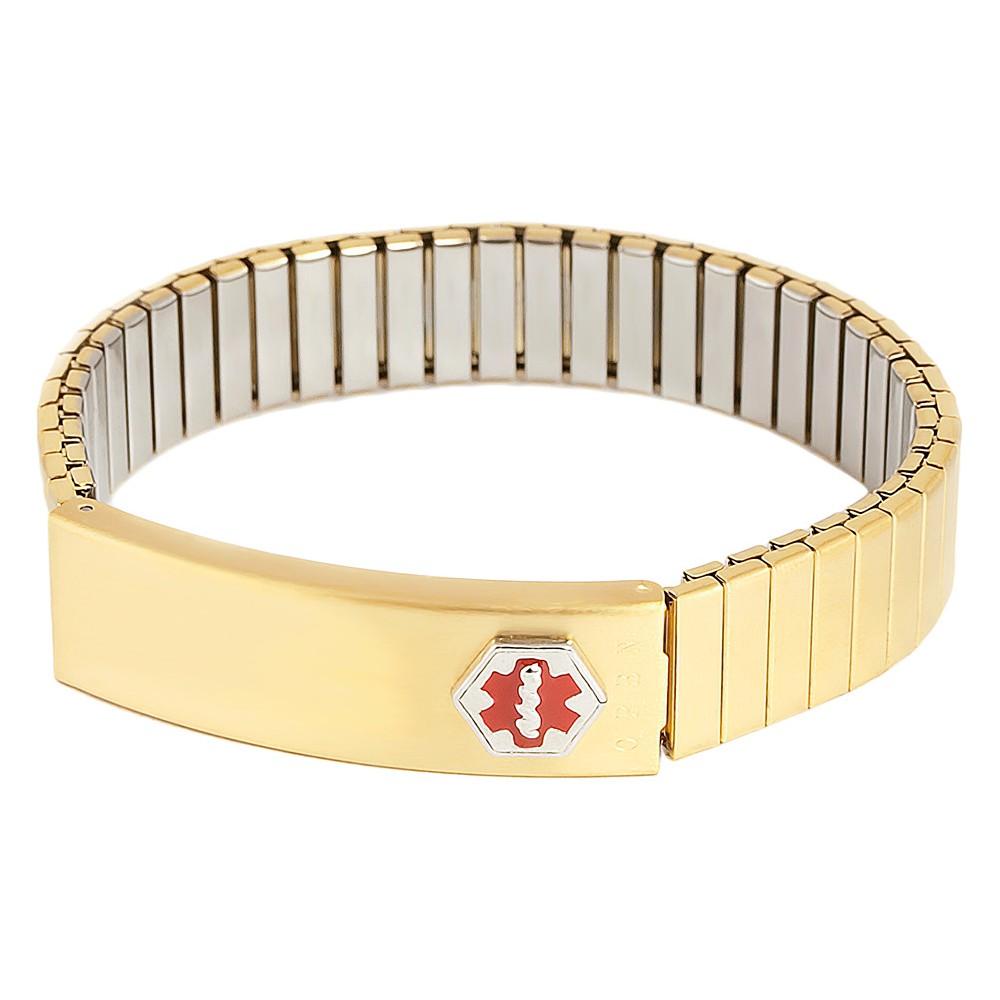 Speidel Medilog Expandable Stainless Steel Men's Bracelet with Storage Plaque - Gold Tone