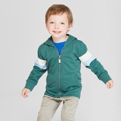 Toddler Boys' Zip-Up Hoodie Sweatshirt - Cat & Jack™ Green 2T