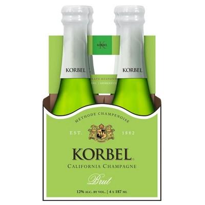 Korbel Brut California Champagne - 4pk/187ml Bottles