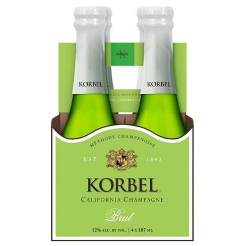 Korbel Brut California Champagne - 4pk/187ml Bottle - image 1 of 1