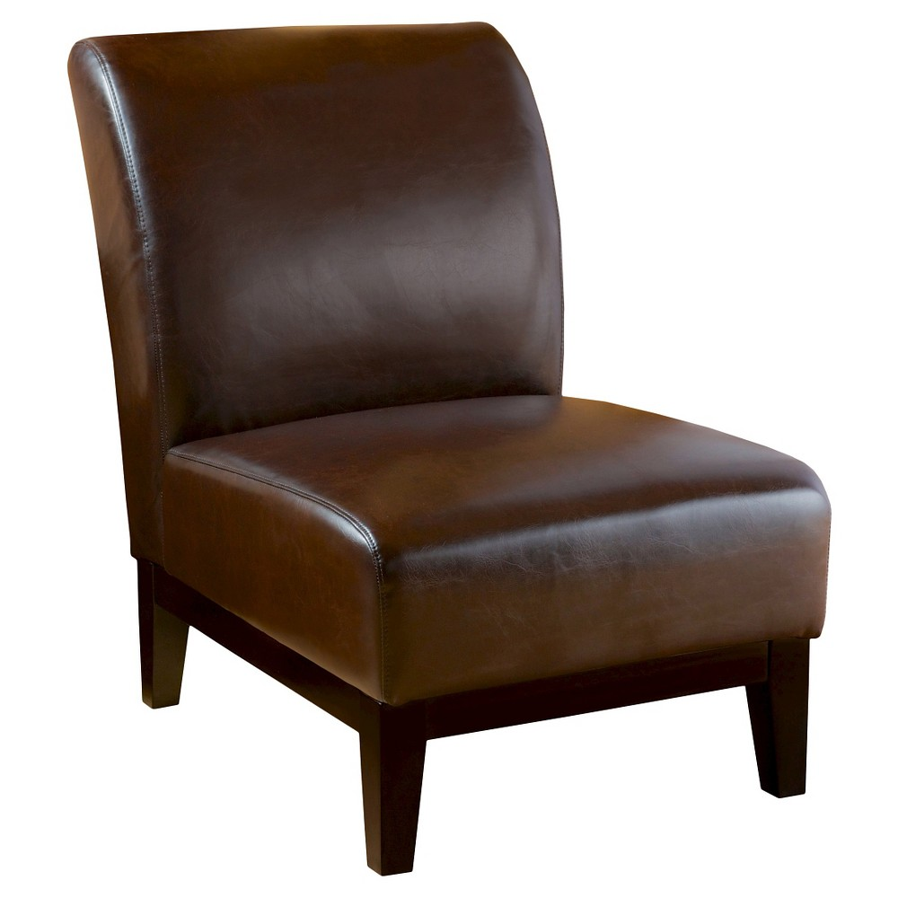 Darcy Slipper Chair Brown - Christopher Knight Home