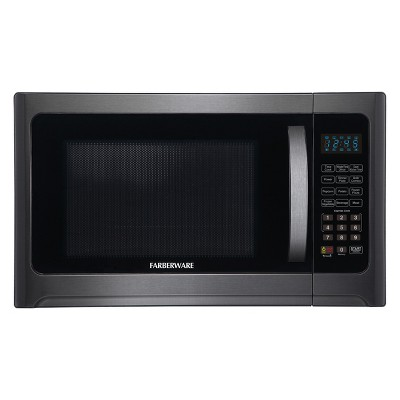 Farberware 1.2 cu ft 1100 Watt Microwave Oven with Grill Function Black Stainless Steel - FMO12AHTBSG