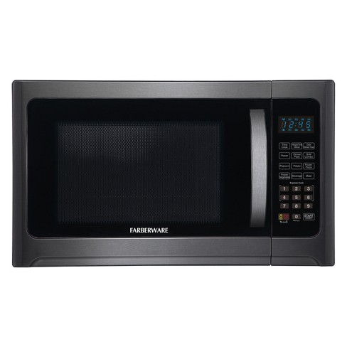 Farberware 1.2 cu ft 1100 Watt Microwave Oven with Grill Function Black Stainless Steel - FMO12AHTBSG - image 1 of 4