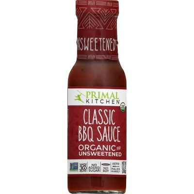 Primal Kitchen Organic and Unsweetened Classic BBQ Sauce - 8.5oz