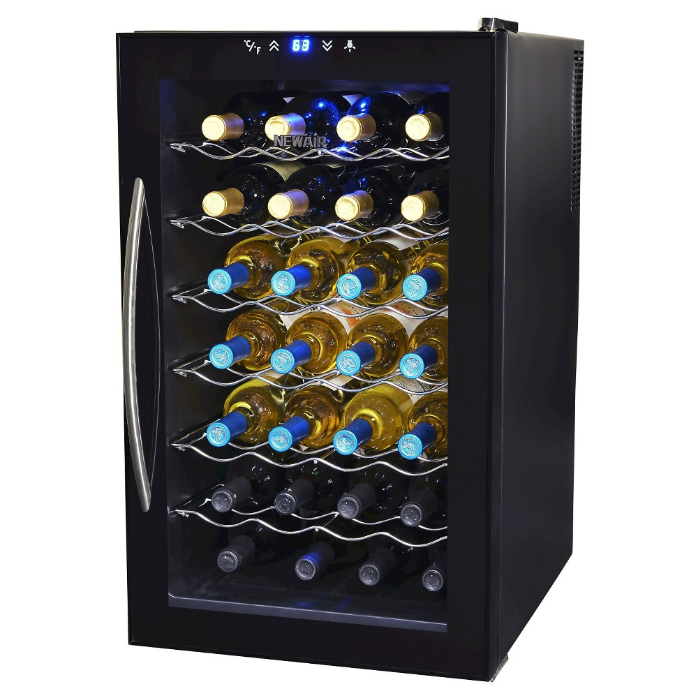 NewAir 28 Bottle Thermoelectric Wine Cooler – Black AW-280E 50149343