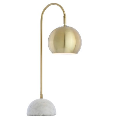 """23.5"""" Metal/Marble Stephen Table Lamp (Includes LED Light Bulb) Gold- JONATHAN Y"""
