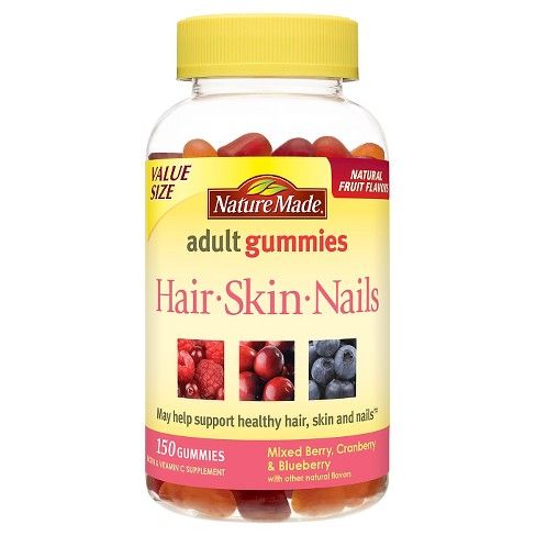 Nature Made Hair/Skin/Nails Supplement Gummies - Mixed Berry ...