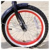 """Firmstrong Mini Bruiser 16"""" Kids' Cruiser Bike with Training Wheels - Black with Red Rims - image 4 of 4"""