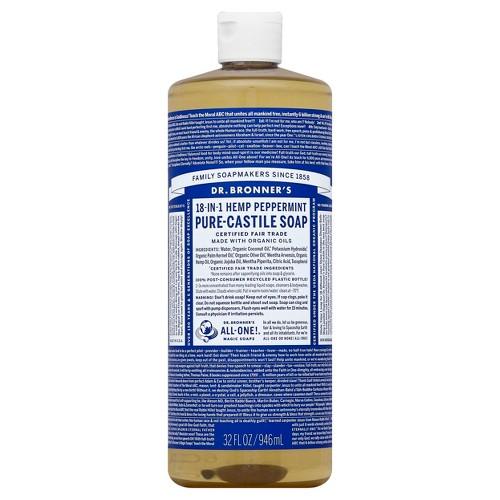 Dr. Bronner's Hemp Peppermint Pure Castile Soap - 32 fl oz