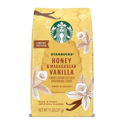 Starbucks Honey & Madagascar Vanilla Medium Roast Ground Coffee - 11oz