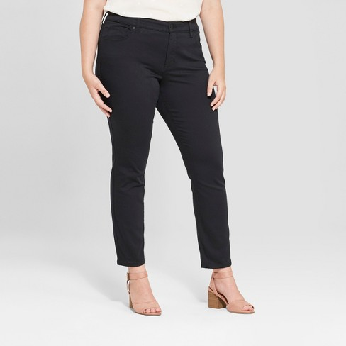 Women's Plus Size Skinny Jeans - Universal Thread™ Black - image 1 of 3