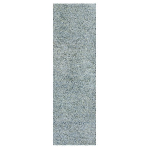 Bliss Blue Heather Shag Woven Rug - KAS - image 1 of 1