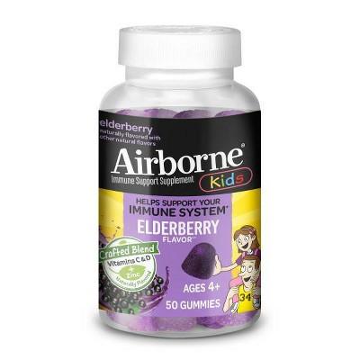 Airborne Kids Elderberry Gummies with Vitamin C & Zinc - 50ct