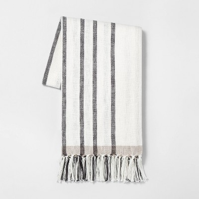 Stripe Throw Blanket Gray - Hearth & Hand™ with Magnolia
