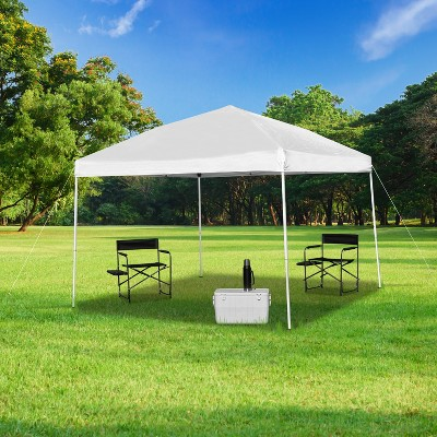 Emma and Oliver 10'x10' Weather Resistant Easy Pop Up Event Straight Leg Instant Canopy Tent