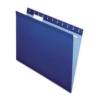 Pendaflex Reinforced Hanging Folders 1/5 Tab Letter Navy 25/Box 415215NAV