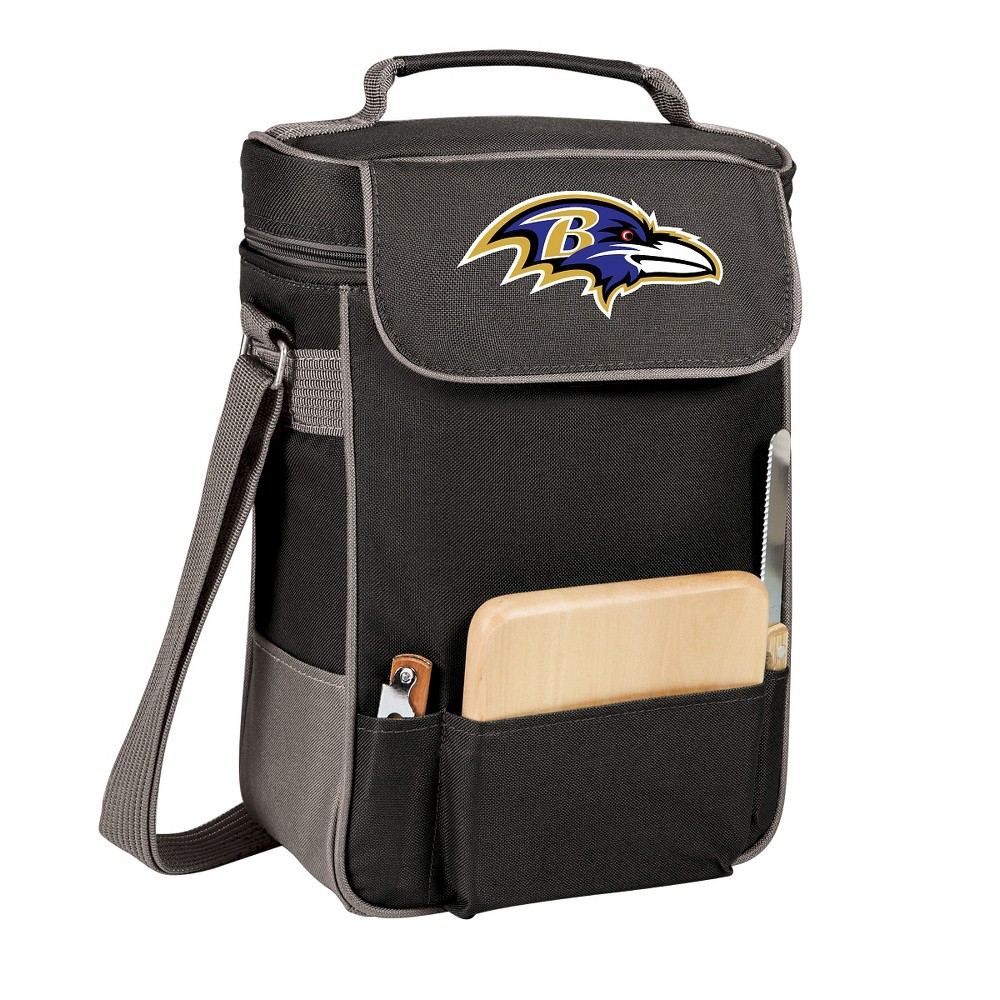 Baltimore Ravens - Duet Wine and Cheese Tote by Picnic Time (Black)