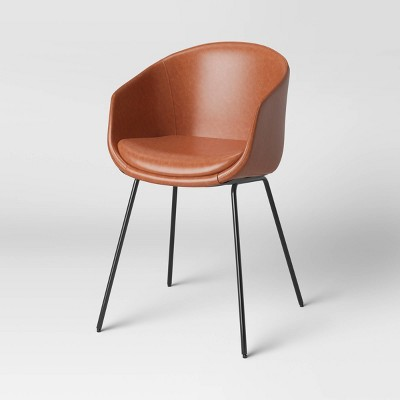 Mossman Faux Leather Tub Dining Chair Brown - Project 62™