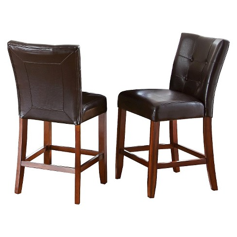 "Montibello 24"" Counter Chairs Hardwood/Chocolate (Set of 2) - Steve Silver Co. - image 1 of 3"