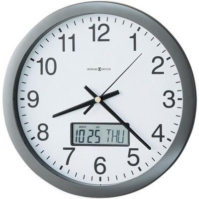 Howard Miller Chronicle Wall Clock 625-195 – Modern & Round with Quartz Movement