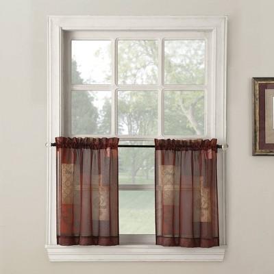No. 918 Eden Inspirational Theme Kitchen Curtain Tier Pair