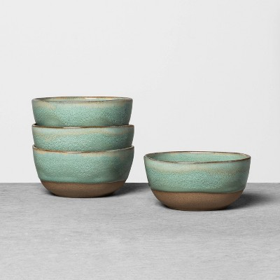 4pk Stoneware Reactive Exposed Base Mini Bowl Blue Green - Hearth & Hand™ with Magnolia