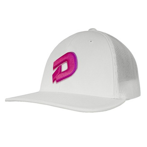DeMarini D Logo Baseball Softball Trucker Hat - White Hot Pink - L ... 370b42716371
