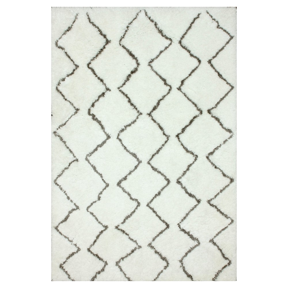 nuLOOM Polyester Hand Tufted Armitra Area Rug - Off-White (Beige) (5' x 7')