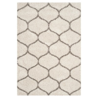 Hudson Shag Rug - Ivory/Gray - (6'X9')- Safavieh®