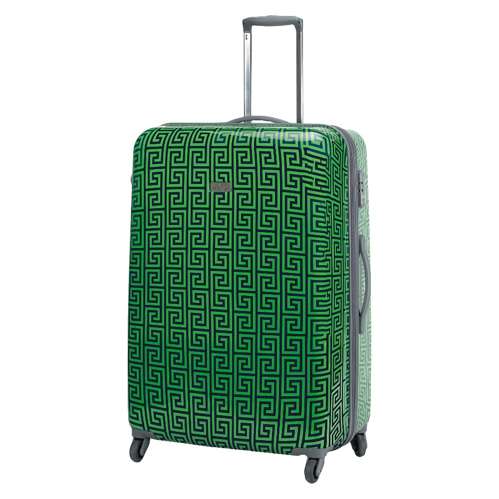 Happy Chic by Jonathan Adler 29 Hardside Spinner Suitcase - Navy (Blue)/Green