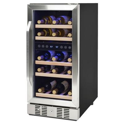 NewAir 29 Bottle Compressor Wine Cooler - Stainless Steel AWR-290DB