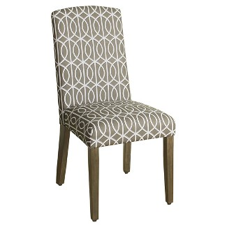 Classic Parsons Dining Chair - Blue Calypso Stripe - Homepop<br>(Set of 2)