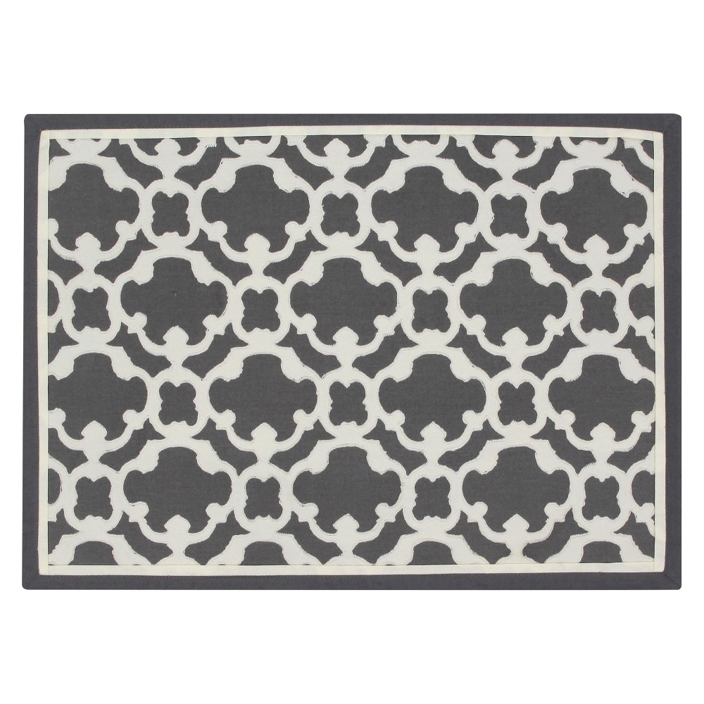 Grey Lattice Placemat - Threshold, Sleek Gray