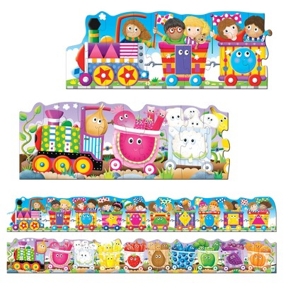 The Learning Journey Puzzle Doubles! Giant Colors and Shapes Train Floor Puzzles 60 pcs