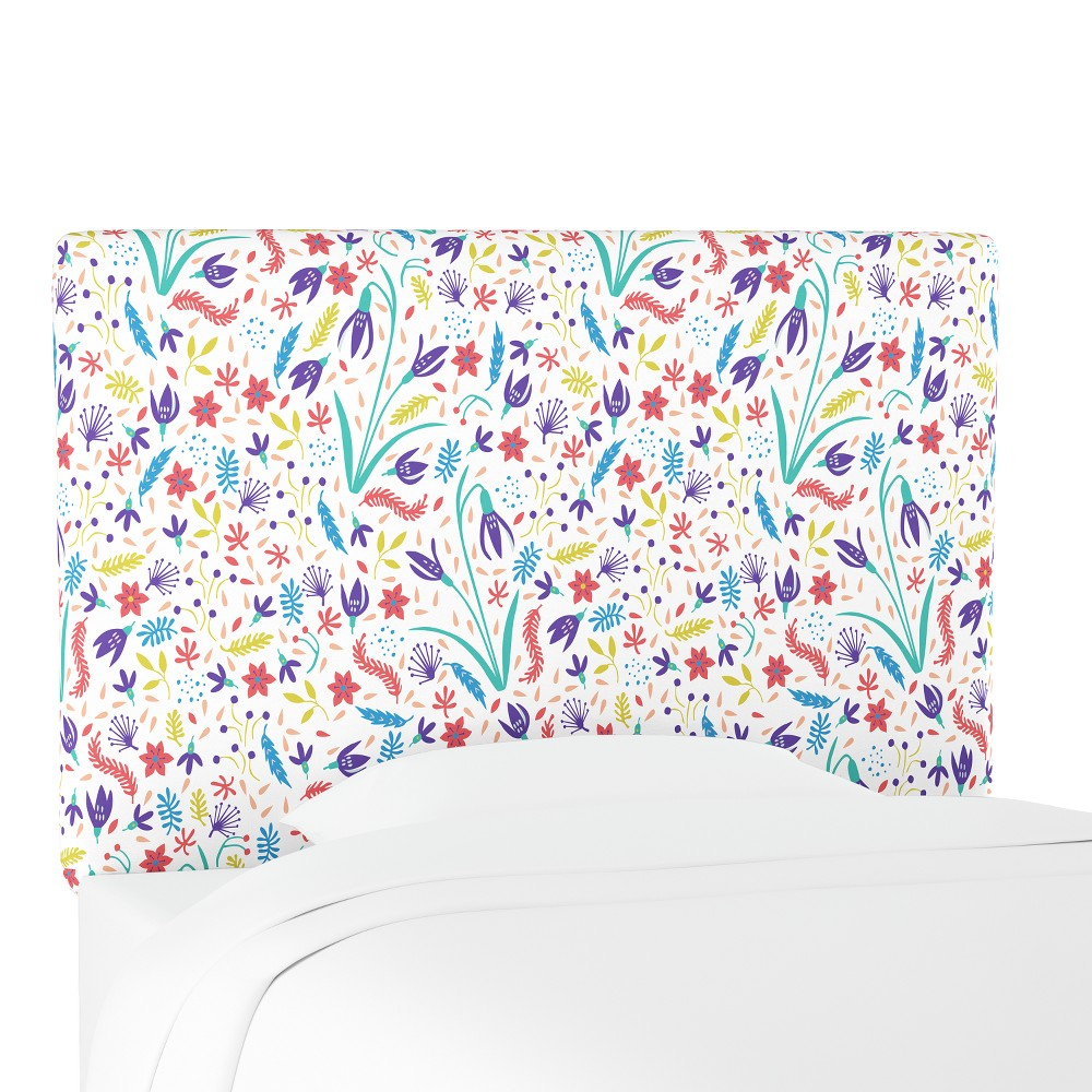 Kids Printed Upholstered Headboard Full Floral Multi - Pillowfort, Multicolored