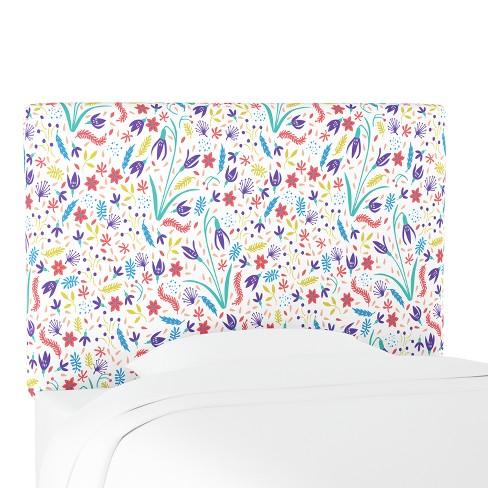 Kids Printed Upholstered Headboard Full Floral Multi - Pillowfort™ - image 1 of 4