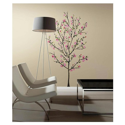 RoomMates Pink Blossom Tree Peel and Stick Giant Wall Decals - image 1 of 2