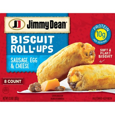 Jimmy Dean Sausage, Egg & Cheese Frozen Biscuit Roll-Up - 12.8oz/8ct